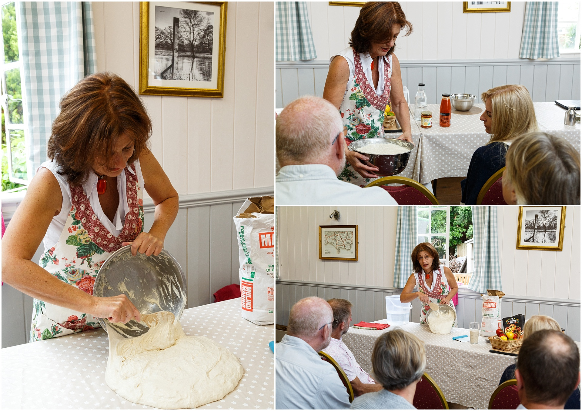 Sharon Roberts of Learn Sourdough teaches a class.